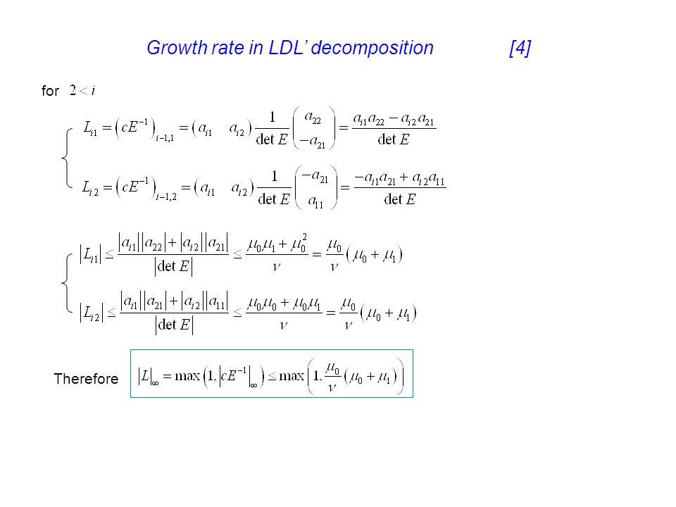 Growth rate in LDL' decomposition [4]